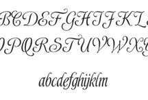 calligraphy capital letters