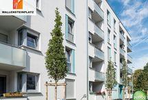 Referenz ★ Wallensteinplatz / In unserem Referenzobjekt Wallensteinplatz erwarten Euch moderne 1- bis 4-Zimmer-Eigentumswohnungen in München Milbertshofen. Alle Wohnungen sind verkauft!