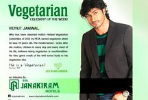 VEGETARIAN CELEBRITY OF THE WEEK / Celebrities who are Vegetarian considered as our week  vegetarian celebrity