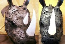 Metal Sculptures / steampunk junk metal