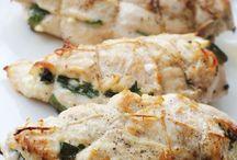 Fetta and spinach chicken