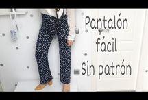 Pantalón Fácil Sin Patron