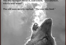 The Wolf Within  / Quotes of strength courage & a fearless heart