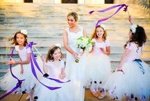 The Flower Girls | TopWedding / A wedding is a very happy celebration as well as an occasion that gives uneasiness to the bride and groom. The bridesmaids are there to assist the bride and the groomsmen to give the groom a good glass of wine before the wedding ceremony starts. The role of the flower girls on the other hand where some of them can barely walk, is distraction; distraction from edginess  that is.
