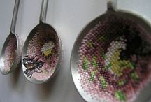 Cross stitched metal