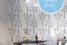 Decorative Stencil Wall