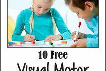 Visual motor activities