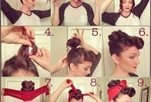 Hair and makeup / ideas for simple enough hairdos n to pretty up your already pretty face :)