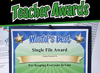 "Funny Teacher Awards / Some of the funny certificates featured from ""101 Funny Teacher Awards"" by comedian Larry Weaver. Thanks for sharing!"