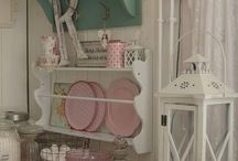 Shabby chic and interesting kitchen style