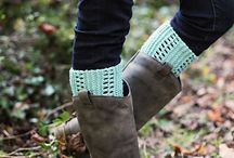 Easy knitting projects / Boot cuffs