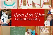 Baseball first birthday party