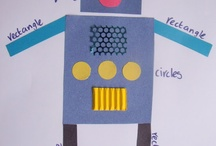 Les robots / Faire des robots en classe en arts visuels graphisme découverte du monde / by Les Pareuses