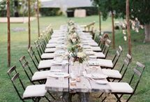Tablescapes (trestle tables) | Weddings