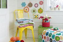 decoração quarto crochê