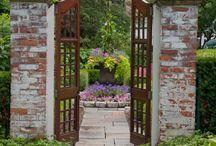 Entry garden doors