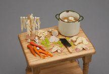 Nourritures Plats & boissons / Miniatures pour maisons de poupées au 1/12ème