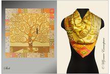 Шелковые платки ручной работы (батик) / Шелковые платки ручной работы (батик), исключительно натуральный шелк