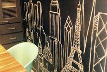 Arte Carla fazenda / Arte mural ,pintura sobre tela,design de mobiliário ,arquitetura de interiores