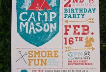 Camp wedding theme / Event marketing and design