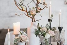 Contemporary Modern Wedding / Modern Contemporary Wedding and Party Design, bold colors, clean lines, geometric shapes, concrete, minimalism, white, black, gold, stone, silver, metallics, Greenery