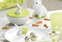 Wielkanocne inspiracje / Dekoracje na Wielkanoc i na wiosnę. Jajka, zajączki, figurki i aranżacje stołu.