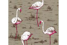 Flamingo bedroom for Olivia