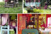 Hippie style rooms