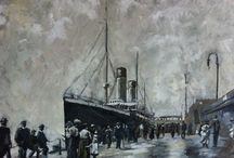 Paintings of Ocean Liners