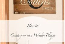 Wooden signs to make