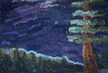 Pine Trees and Lakes / Shading and Color