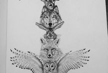 tattoo lion wolf animals
