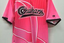Breast Cancer Awareness Jerseys / custom team jerseys hockey and baseball teams wear to raise money for breast cancer awareness.