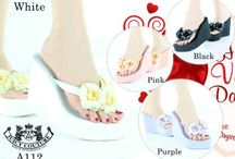 Juicy / sandal wedges Juicy  import hongkong   Type A112-582 Pink black Ukuran 35-39 Harga @285