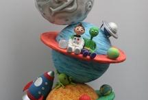 Торт космическая тема