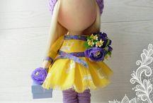 Интерьерные куклы. Куклы на заказ. Текстильные интерьерные малышки.