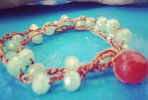 Crochet bracelet La Fucina del Tempo Monili / Handmade crochet bracelets. Follow me on Facebook: lafucinadeltempo