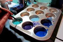 stained glass with glue