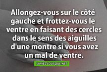 Astuce quand on a mal