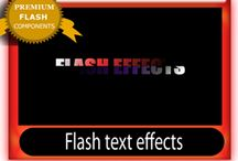 Flash text effects / Flash text effects and animations