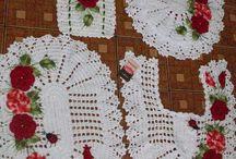 conjunto de banheiro crochê