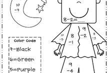 Colorear Por Números / Deberes niños