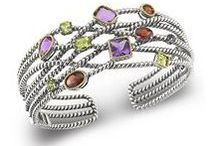 Amethyst Jewelry / Sterling silver and 14kt gold jewelry with amethysts.