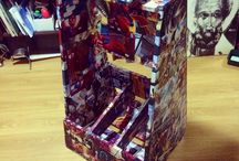 BUZINA Comics  Furniture / Мебель обклеенная комиксами