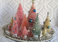 It's a Vintage, Pastel Christmas :) / A Christmas filled with pastels...pinks, purples, blues...Twinkles and glitter, shiny and bright... / by Michele Seat