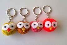 key chain / crochet key chain - handmade