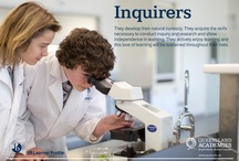 Inquirers / They develop their natural curiosity. They acquire the skills necessary to conduct inquiry and research and show independence in learning. They actively enjoy learning and this love of learning will be sustained throughout their lives.