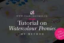 Tutorials by Clarice Gomes / Design and watercolour tutorials.