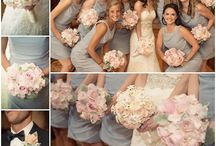 Pale Pink & Grey / pale pink & grey wedding theme with natural confetti ideas from The confetti cone company www.confetti-cones.co.uk