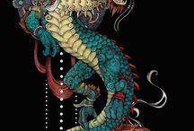 Dragons / Dragons for fabric design inspiration